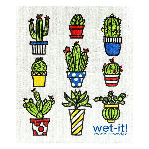 Cactus Pots Wet-It Swedish Dish Cloth