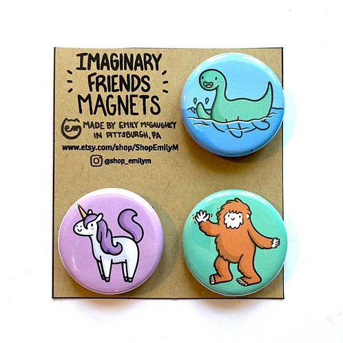 Imaginary Friends Magnet - Pack of 3