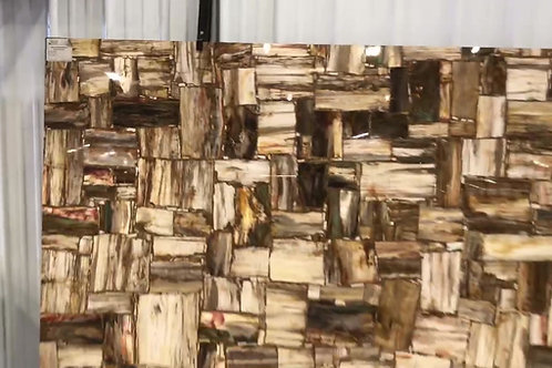 Retro Petrified Wood Semi-Precious