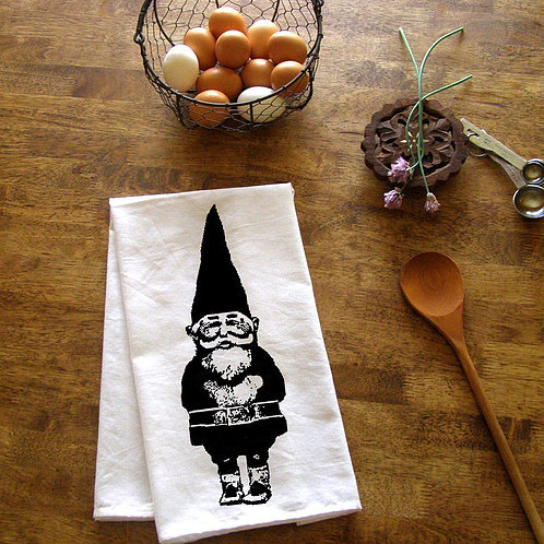 Garden Gnome Kitchen Towel by Bruno and Betty