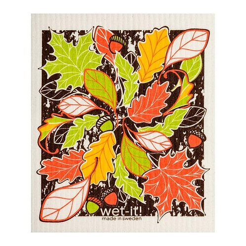 Beautiful Fall Wet-It Swedish Dish Cloth