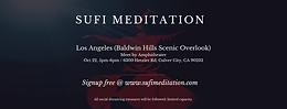 LOS ANGELES | Waqar Faiz Sufi Meditation (Baldwin Hills Amphitheatre)