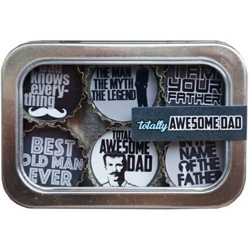 Totally Awesome Dad Magnets (6 Pack) by Kate's Magnets