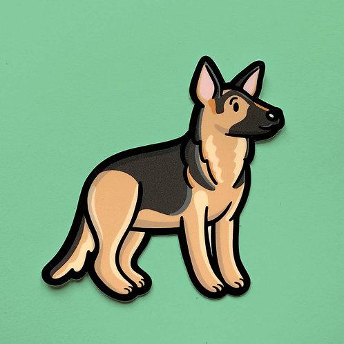 German Shepherd Vinyl Sticker