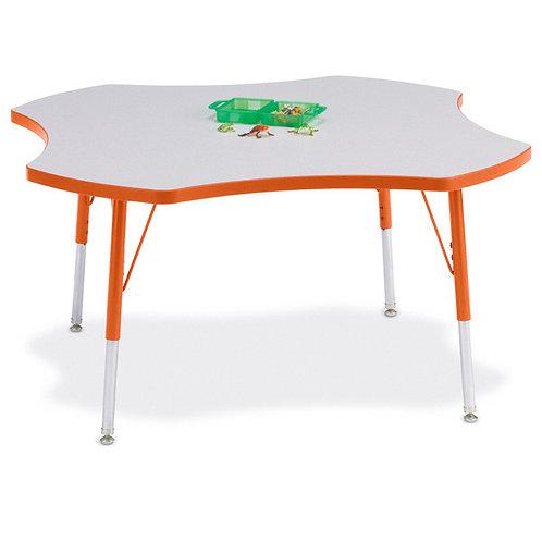 Berries Four Leaf Activity Table - Gray/Orange