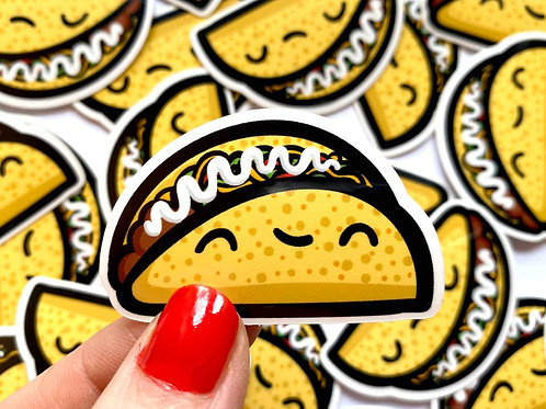 Mini Taco Vinyl Sticker