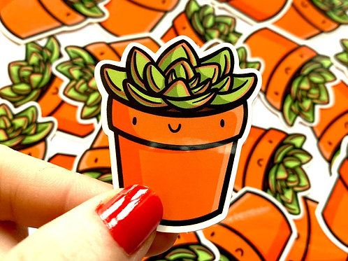 Mini Succulent Vinyl Sticker