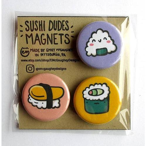 Sushi Dudes Magnet (Set 2) - Pack of 3