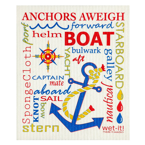 Nautical Multi Wet-It Swedish Dish Cloth