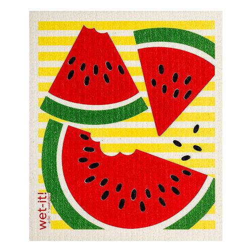 Watermelon Slices Wet-It Swedish Dish Cloth