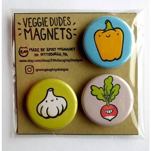Veggie Dudes Magnet - Pack of 3