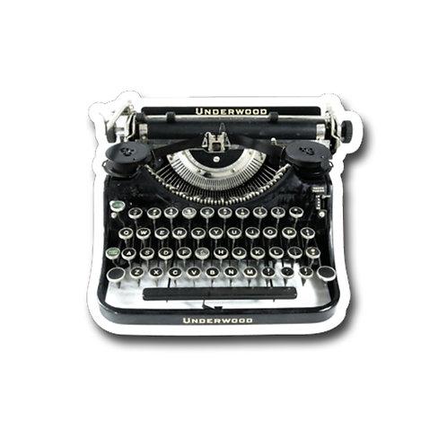 Underwood Typewriter Vinyl Sticker