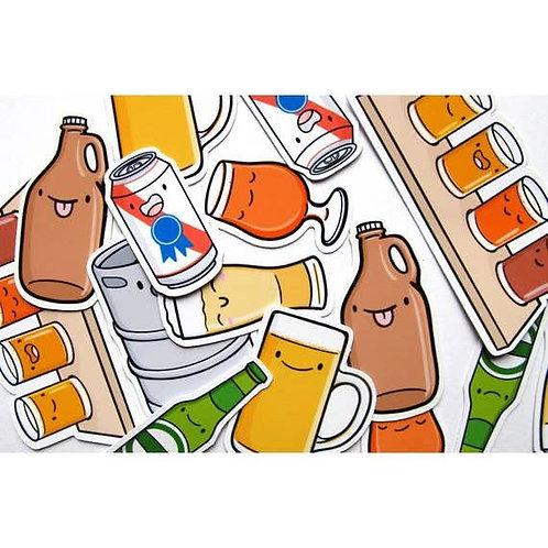 Beer Buddies Sticker Pack