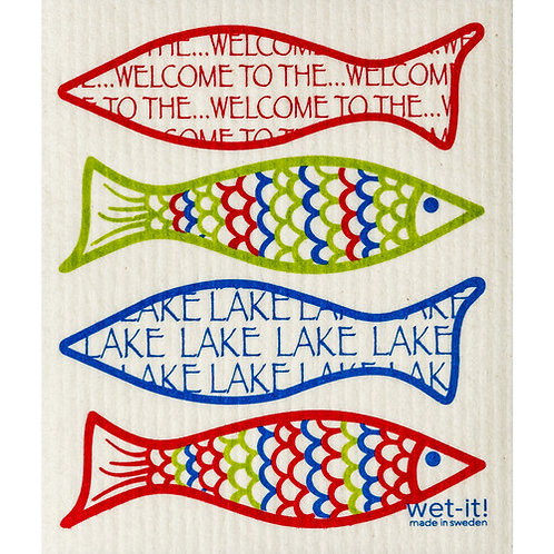Welcome to the Lake Wet-It Swedish Dish Cloth