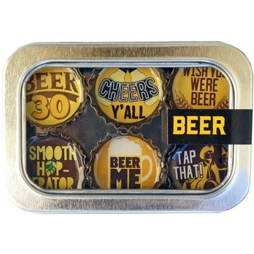 Beer Magnets (6 Pack) by Kate's Magnets