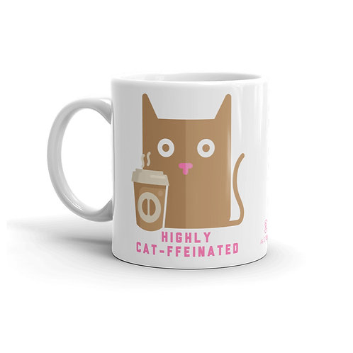 Highly Cat-ffeinated 11 oz. Mug by As of Latte
