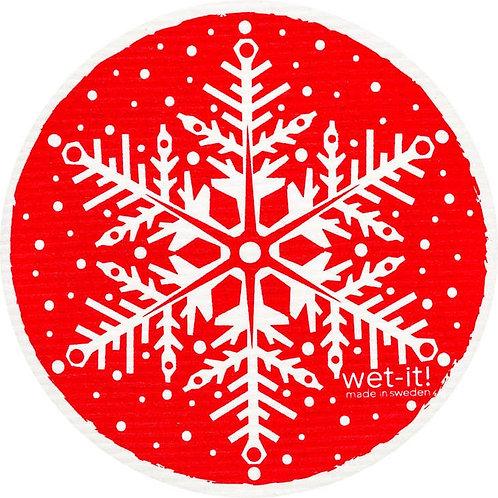 Snowflake Round Wet-It Swedish Dish Cloth (Multiple Colors)