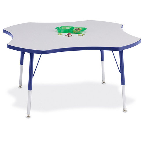 Berries Four Leaf Activity Table - Gray/Blue