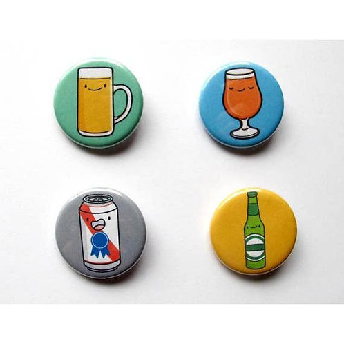 Beer Buddies Pin - Pack of 4
