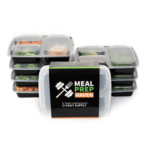 Meal Prep Bento Food Containers (Set of 14)