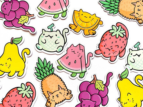 Fruit Cats Sticker Pack