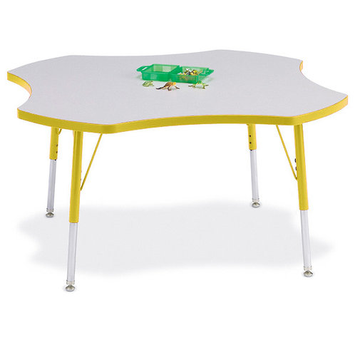Berries Four Leaf Activity Table - Gray/Yellow