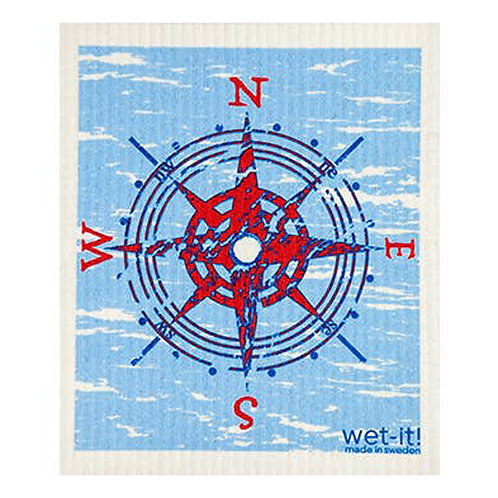 Compass Blue Wet-It Swedish Dish Cloth