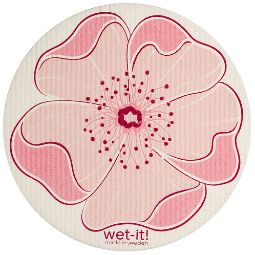 Cherry Blossom Round Wet-It Swedish Dish Cloth