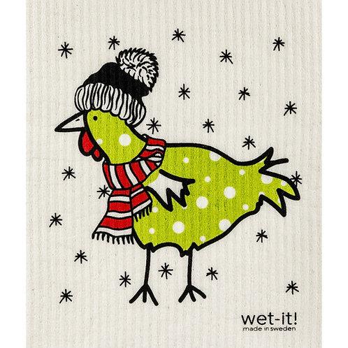 Winter Chicken Wet-It Swedish Dish Cloth