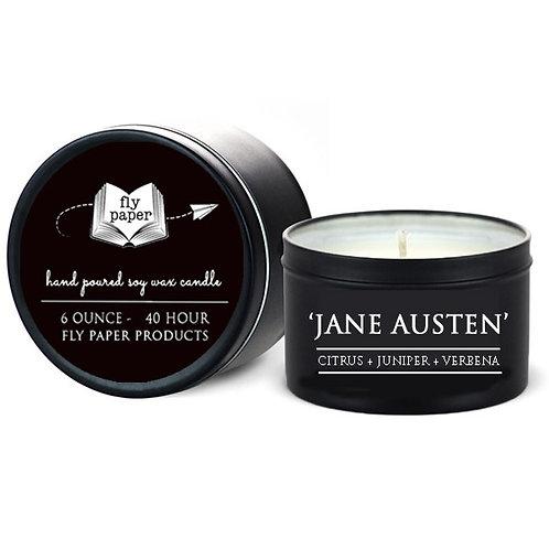 Jane Austen 6 oz. Tin Candle