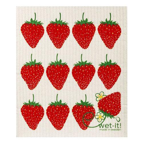 Strawberry Wet-It Swedish Dish Cloth
