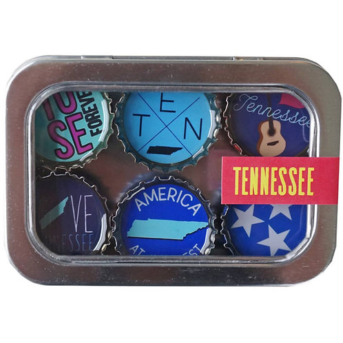 Tennessee Magnets (6 Pack) by Kate's Magnets