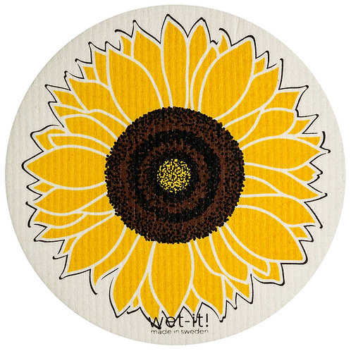 Sunflower Round Wet-It Swedish Dish Cloth