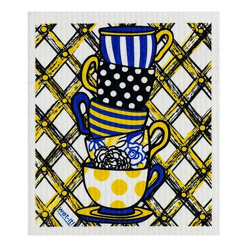 Teacups Wet-It Swedish Dish Cloth