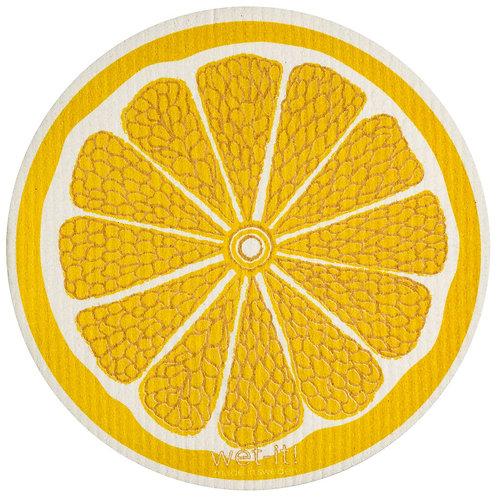 Lemon Round Wet-It Swedish Dish Cloth
