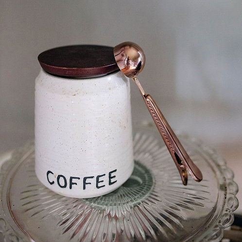 Stainless Steel Coffee Scoop - Rose Gold