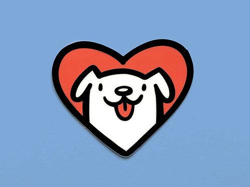Dog Heart Vinyl Sticker