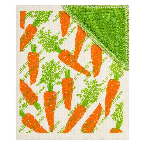Carrots Wet n' Scrub Wet-It Swedish Dish Cloth
