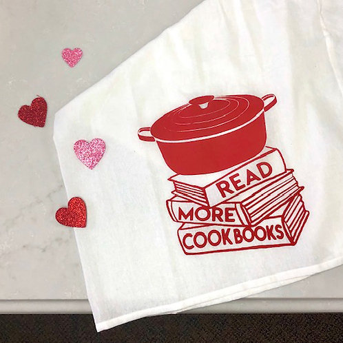 Read More Cookbooks Kitchen Towel by Bruno and Betty