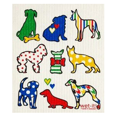 Dog Lover Multi Wet-It Swedish Dish Cloth