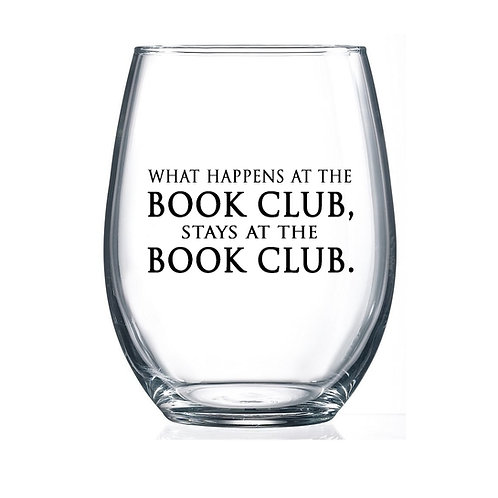 Book Club Wine Glass
