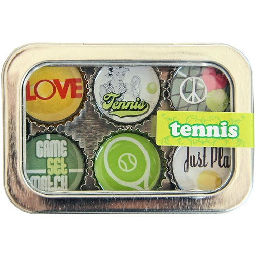 Tennis Magnets (6 Pack) by Kate's Magnets