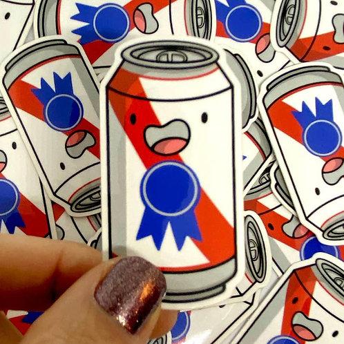 Mini Beer Can Vinyl Sticker