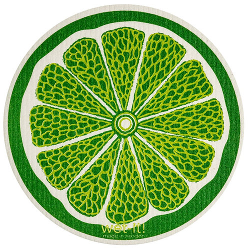 Lime Round Wet-It Swedish Dish Cloth