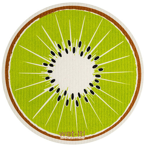 Kiwi Round Wet-It Swedish Dish Cloth