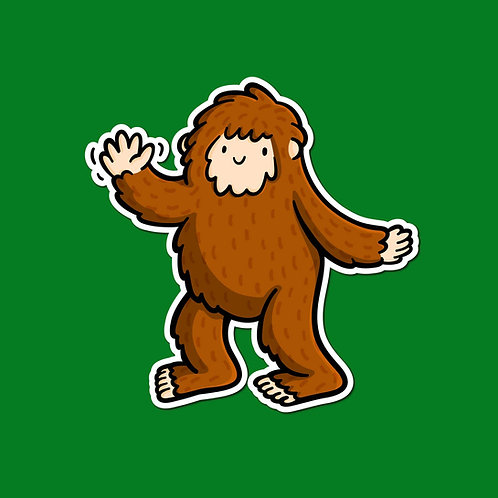 Bigfoot Vinyl Sticker