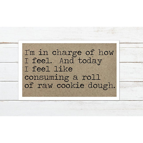 Raw Cookie Dough Magnet by Says The One