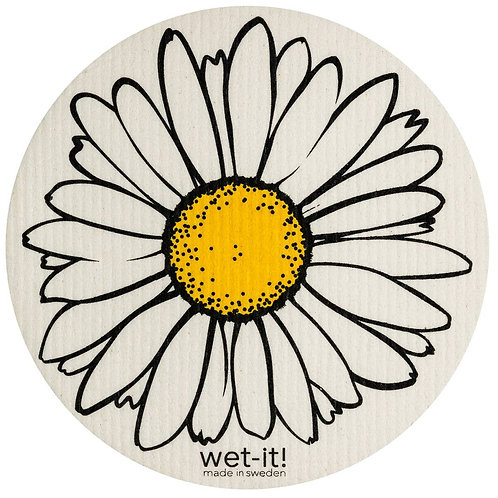 Daisy Round Wet-It Swedish Dish Cloth