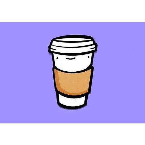 To Go Coffee Cup Vinyl Sticker