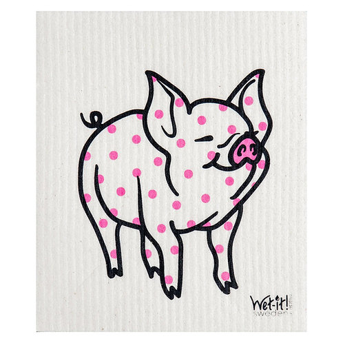 Polka Pig Wet-It Swedish Dish Cloth